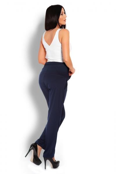 Tehotenské nohavice / tepláky s vysokým pásom -  granátové veľ. L/XL