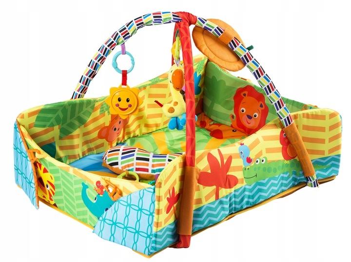 Vzdelávacie hracia deka 3v1 - Happy Safari