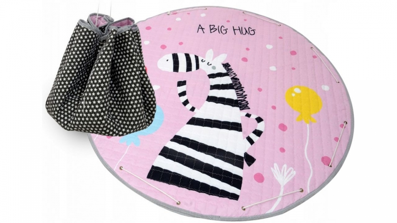 Hracia deka - kôš na hračky 150 cm - Zebra