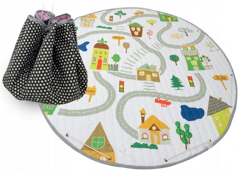 Hracia deka - kôš na hračky 150 cm - Fox