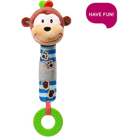 Plyšová hračka s pískátkem a hryzátkom Opička George