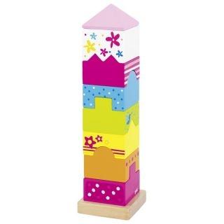 Drevená veža z kociek, hlavolam Susibelle