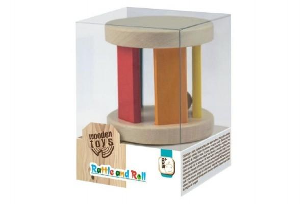 Hrkálka s guličkou drevené Wooden Toys v krabičke 10x7x7cm 6m +