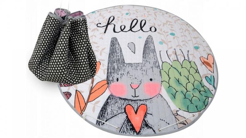 Hracia deka - kôš na hračky 150 cm - Rabbit