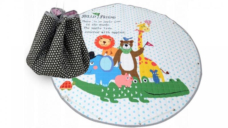 Hracia deka - kôš na hračky 150 cm - Animals