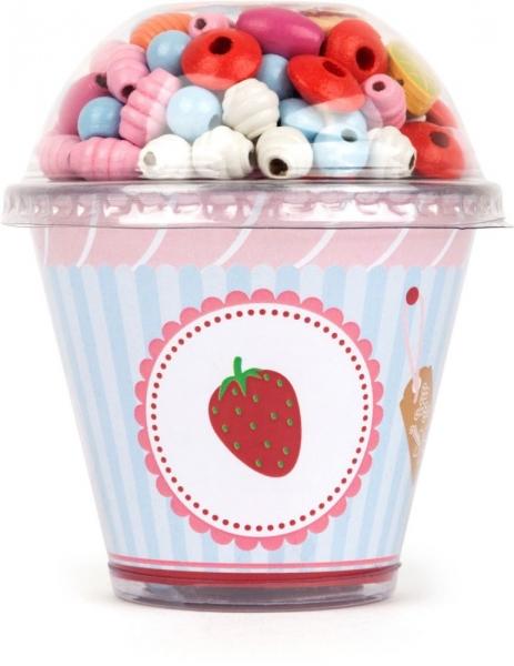 Legler Drevené korálky Cupcake - červené