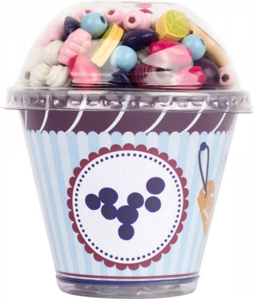 Legler Drevené korálky Cupcake - fialové