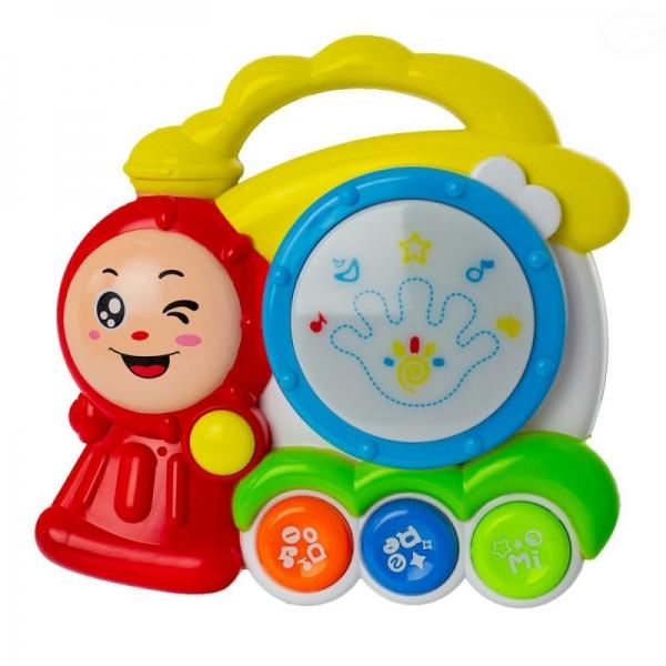 Euro Baby Interaktívna hračka s melódiou bubienok - Vláček