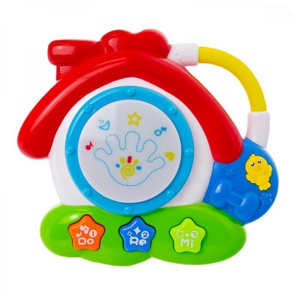 Euro Baby Interaktívna hračka s melódiou bubienok - Domček