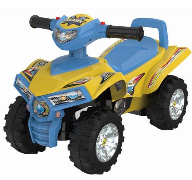 BABY MIX Detské odrážadlo, štvorkolka QUAD - žltá/modrá