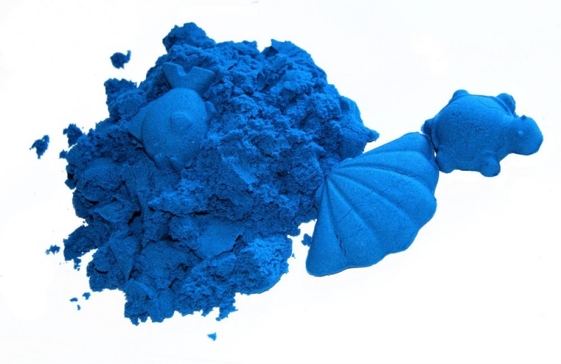 Kinetický piesok - modrý - 2kg + formičky zadarmo