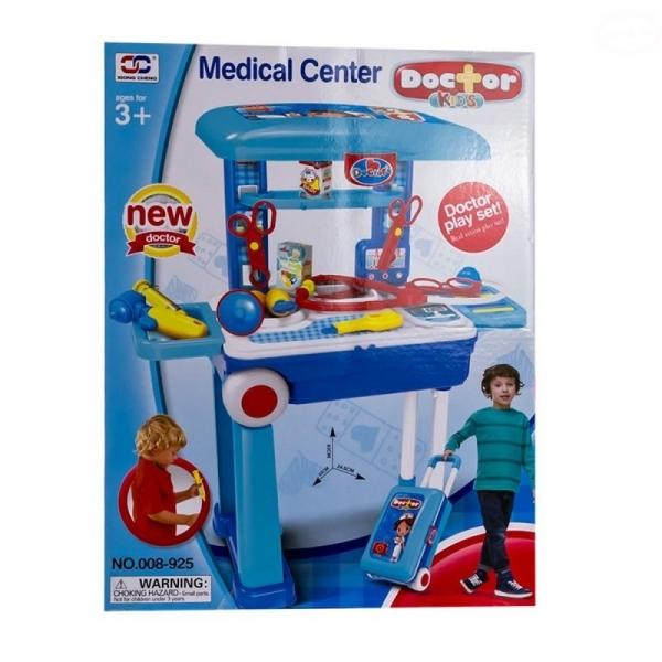 Detský lekársky set v pojazdnom kufríku