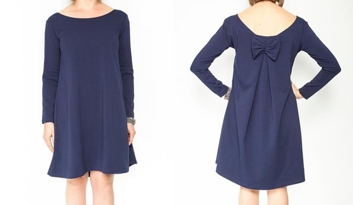 Elegantné tehotenské šaty, áčkový strih, dlhý rukáv - granátové