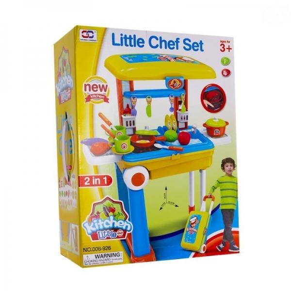 Euro Baby Detská kuchynka v pojazdnom kufríku