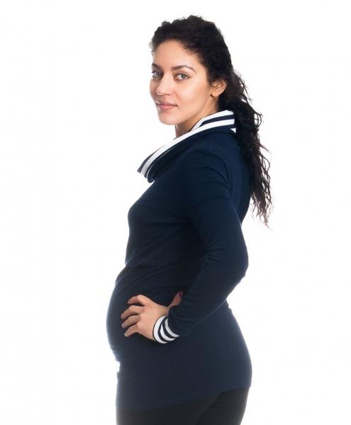 Tehotenské, dojčiace tričko / blúzka Diana so stojačikom - granátové