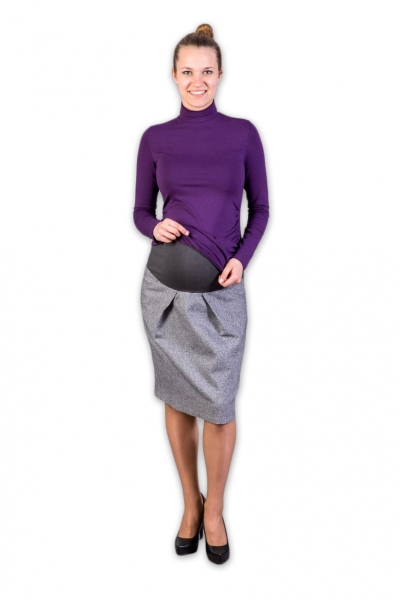 Tehotenská sukňa vlnená Daura, veľ. L