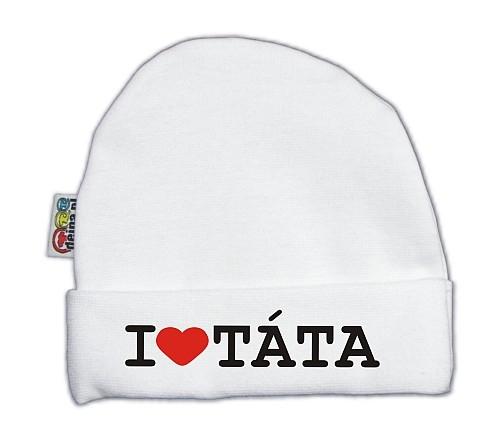 Čiapočka KOLEKCIA I LOVE TATA - biela
