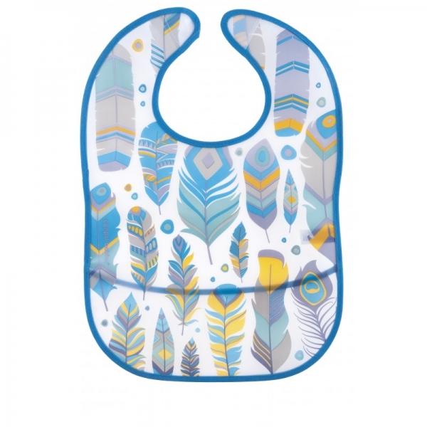 Canpol babies Plastový podbradník s vreckom Wild Nature - tyrkysový