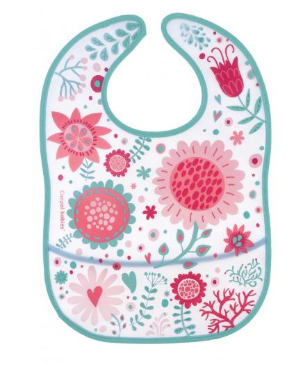 Plastový podbradník s vreckom Wild Nature - ružový