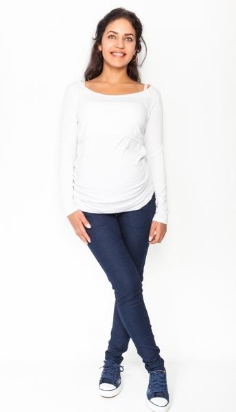Tehotenské nohavice / jeans Rosa - granátové