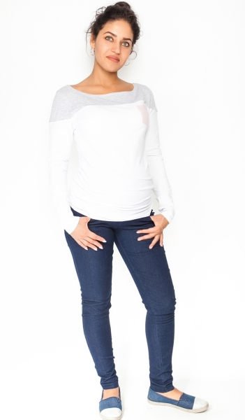 Tehotenské nohavice / jeans Rosa - granátové, veľ. S