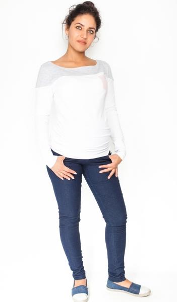 Tehotenské nohavice / jeans Rosa - granátové, veľ. L
