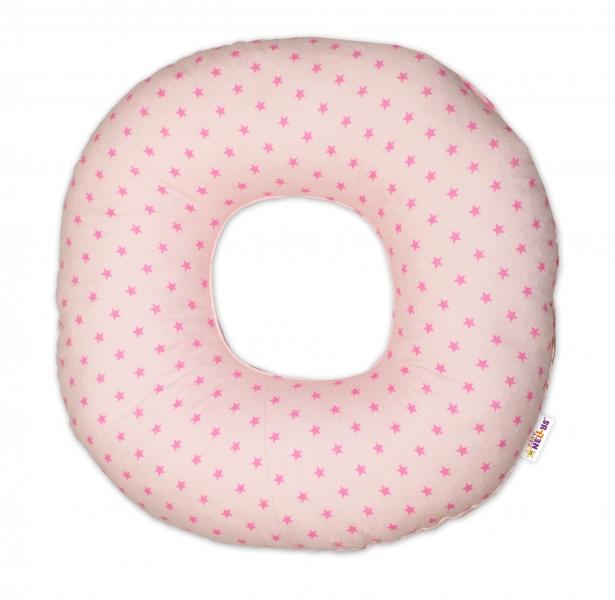 Popôrodný vankúš malý - Mini stars ružové