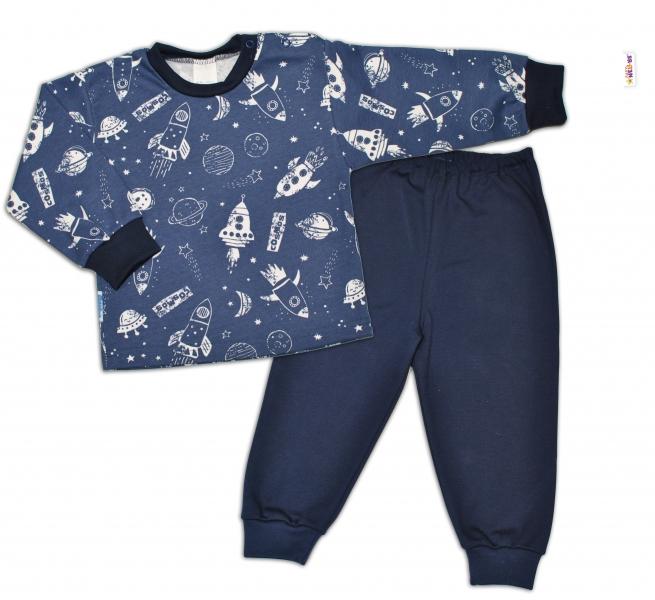 Bavlnené pyžamko Kosmos - granátové, veľ. 98