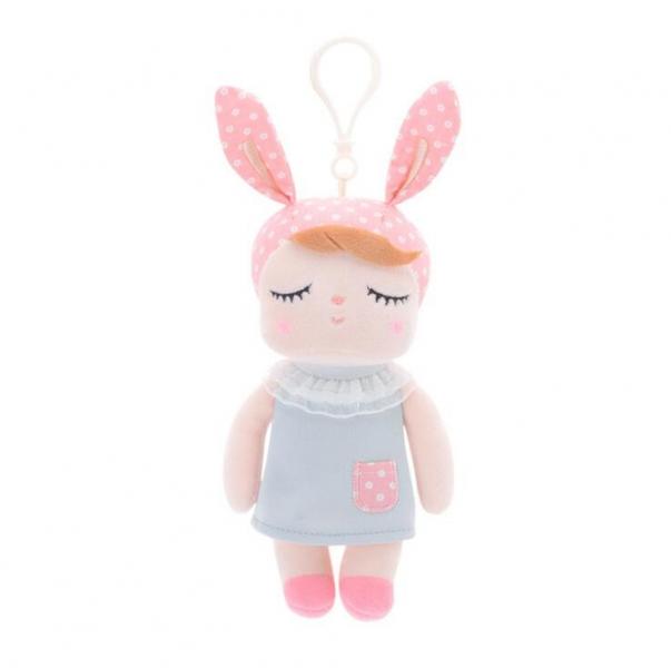 Mini handrová bábika Metoo s uškami a klipom, 19cm