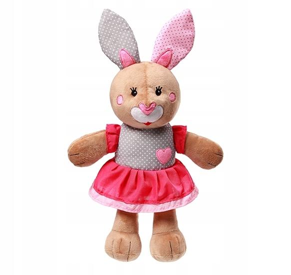 BabyOno Plyšová hračka s hrkálkou, 30cm -  Bunny Julia