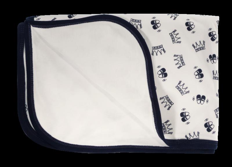 Detská deka, dečka Princezna, 80x90 - bavlna, granát
