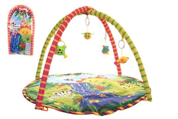 Teddies Hrazda pre deti s podložkou a hrkálkami v plastovej taške 38x68x6cm.