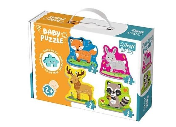 Baby Puzzle 4 v 1 - Zvieratká v lese