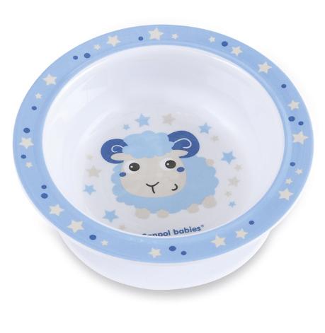Melamínová miska s prísavkou Ovečka - modrá