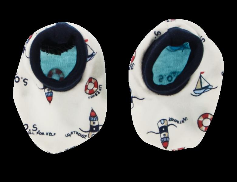 Mamatti Dojčenské topánočky / ponožtičky Maják, bílé