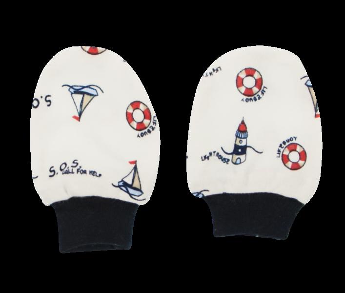 Mamatti Dojčenské rukavičky Maják, bílé