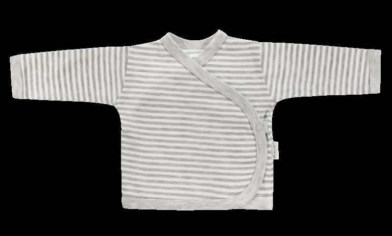 Mamatti Novorodenecká košieľka Gentleman - zapínanie bokom, sivá-56 (1-2m)