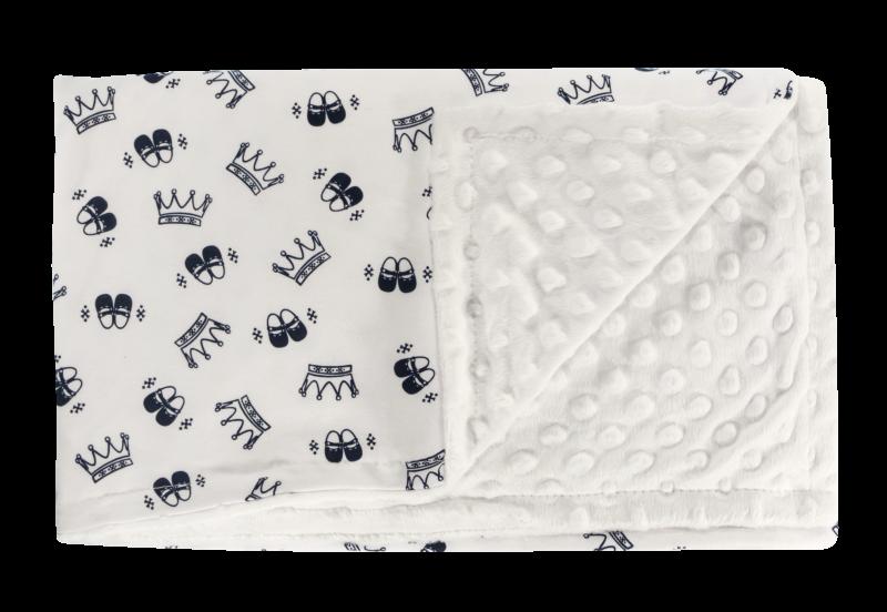 Detská deka, dečka Princezna 75x90 - Minky/bavlna, granát