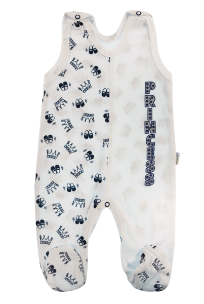 Mamatti Dojčenské bavlnené dupačky Princezná, granátové korunky