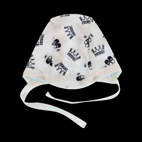 Mamatti Novorodenecká čiapočka Princezná, granátové korunky, veľ. 62-#Velikost koj. oblečení;62 (2-3m)