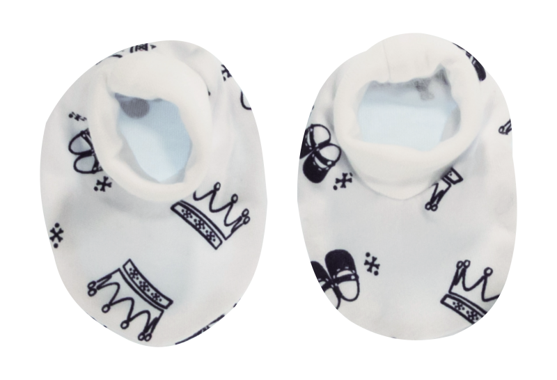 Dojčenské topánočky / ponožtičky Princezna, granátové korunky