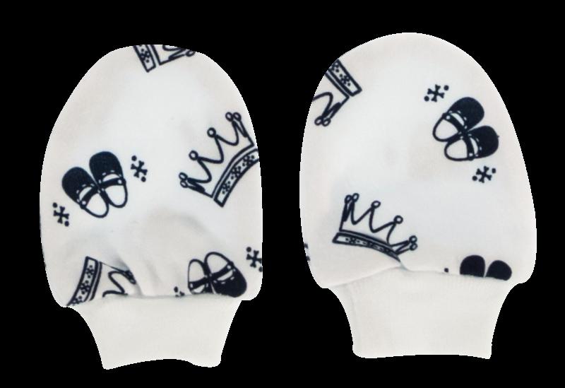 Dojčenské rukavičky Princezna, granátové hvezdičky