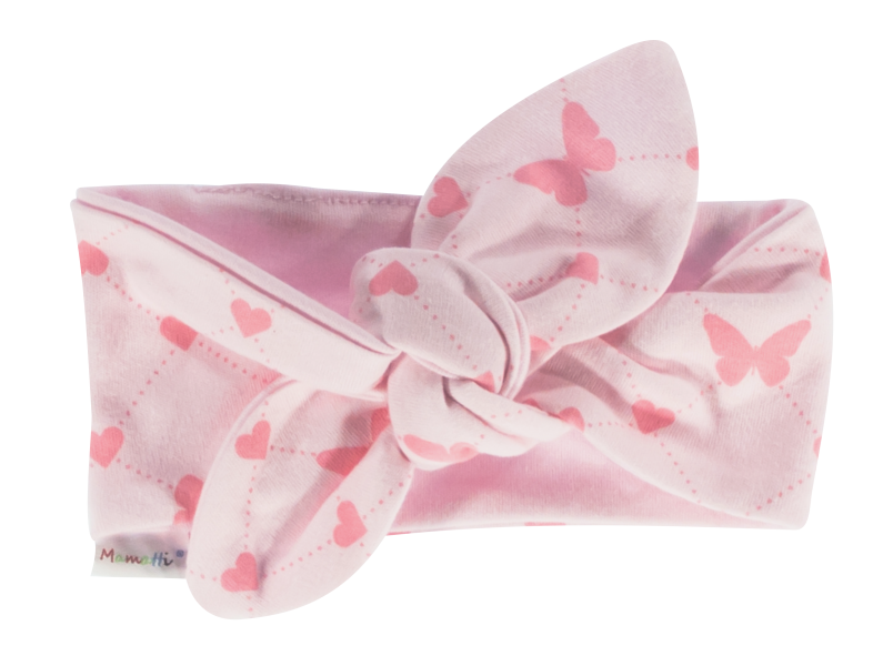 Čelenka Pin-up Motýlik srdiečko, ružový