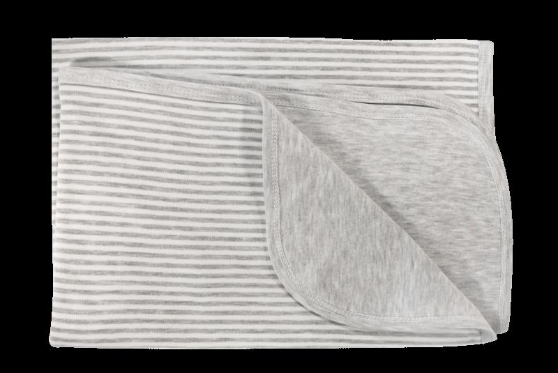 Detská deka, dečka Gentleman, 80x90 - bavlna, sivá