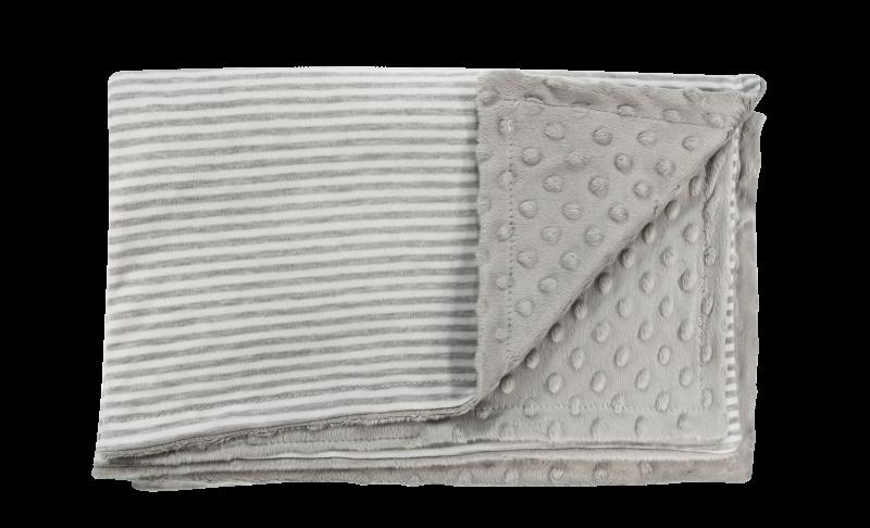Detská deka, dečka Gentleman 80x90 - Minky/bavlna, sivá