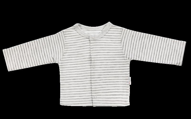 Bavlnená košieľka Gentleman, sivá-56 (1-2m)