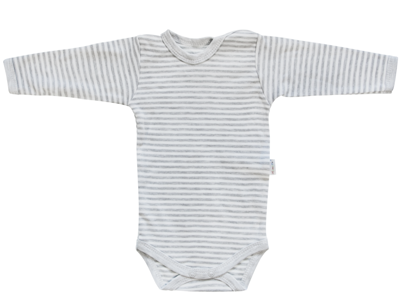 Mamatti Dojčenské body Gentleman - dlhý rukáv, sivé, veľ. 74