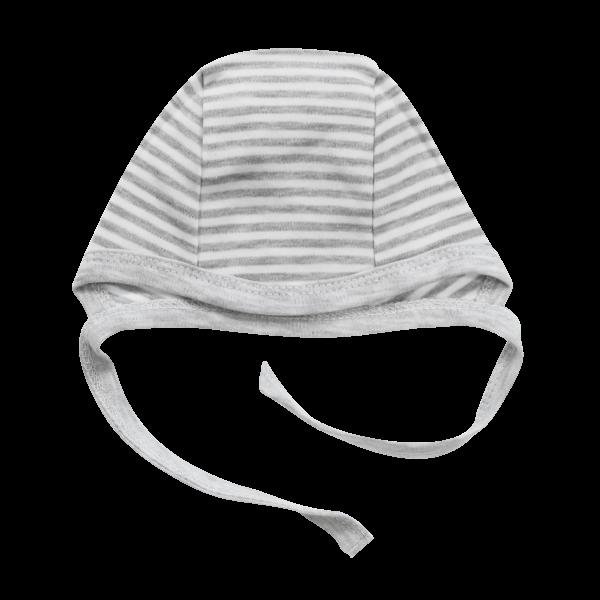Mamatti Novorodenecká čiapočka Gentleman, sivá