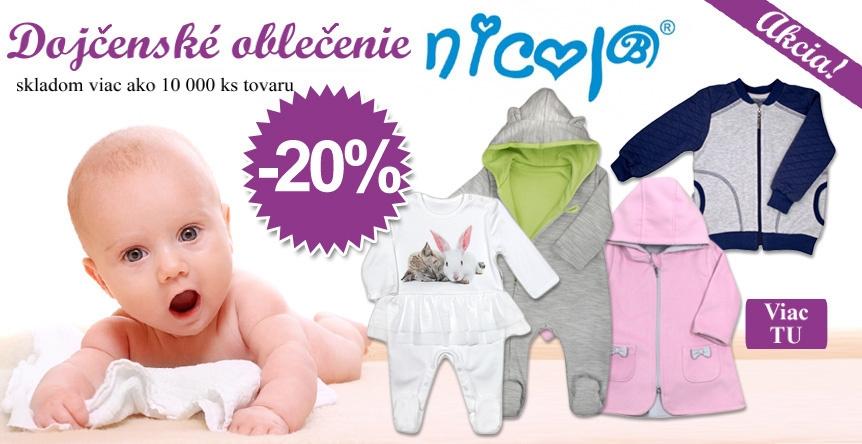 Výpredaj dojčenského oblečenia NICOL !! ZĽAVA 20%.