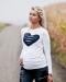 Tehotenské tričko / blúzka HEART dl. rukáv - biele